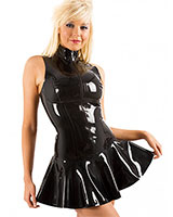 Glued Black Latex Glamazon Dress - Up to Size 4XL