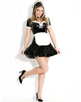Maids Dress - Dienstmädchenuniform aus geklebtem Latex - bis 4XL