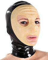 Glued Latex Hood with Transparent Face