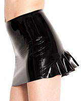 Glued Black Rubber Teaser Skirt