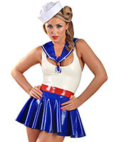 Glued Latex Sex Sailor Set