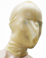 Glued Latex Breath Control Hood with Zipper