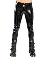 Latex Jeans (0.6 mm) with Side Stripes and 2 Way Zipper