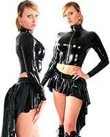 Glued Latex Short Mistress Jacket - Made to Measure Available