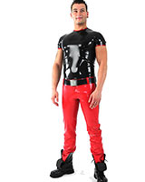 Glued Latex Jeans with Thru 2-Way Zipper and Various Options