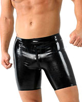 Glued Latex Cycleshorts with Thru 2 Way Zip - Made to Measure
