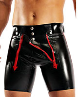 Glued Latex Cycleshorts with 2 Front Zippers - Made to Measure