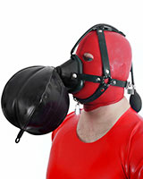 Thick Rubber Head Harness with Breathing Bag - Also as Lockable
