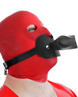Rubber Watersports Head Strap-On with Funnel - Also as Lockable