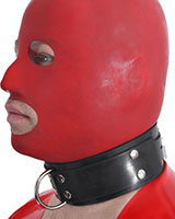 Rubber Slave Collar with D-Ring - also as Lockable