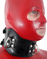 Rubber Posture Collar with D-Rings - also as Lockable