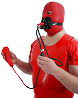 Sheath with Tube and Mouth Mask with Piss Gag - also as Lockable