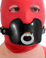 AB Heavy Rubber Strap-On with Pacifier - Also as Lockable