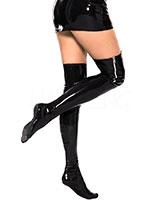 Datex Overknee Stockings with Side Metal Zipper
