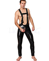 Datex Pants with Front Zipper and Braces