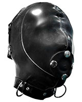Latex Extreme Hood with Detachable Gag - 1 mm