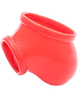 Anatomical Latex Ball Bag Ben with Cockring - Red