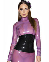 Glued Latex Ice Maiden Panel Blouse