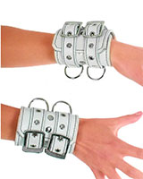 Leather Arm Cuffs with D-Rings
