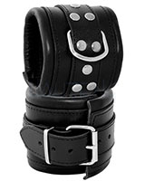Leather Arm Cuffs with D-Ring - Width 8 cm - also with Padlock