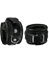 Leather Arm Cuffs with D-Ring - Width 5 cm
