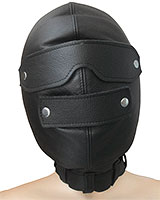 Padded Black Leather Isolation Hood