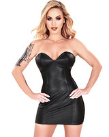 Leather and Stretch Dress