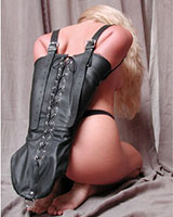 Leather Laced-Up Armbinder