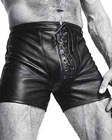 Leather Shorts - up to Size XXXL