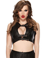 Leather Bustier - Size M