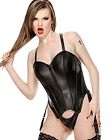 Leather Body with Suspenders and Detachable String