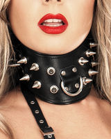 Leather Posture Collar with D-RIngs