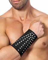 Leather Arm Gauntlet with Rivets