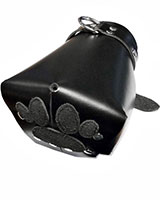 Black Leather Puppy Fist Mitts - Lockable