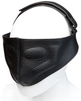 Kink Black Leather BLINDING MASK