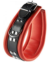 Leather Bondage Collar with D-Rings - Width 6.5 cm