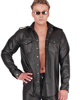 Leather Shirt with Long Sleeves