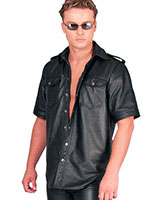 Leather Shirt with short Sleeves