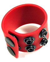 "Boneyard 1.5"" Silicone Ball Strap with 3 Snaps"