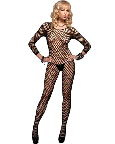 Ringo Net Catsuit with Open Crotch