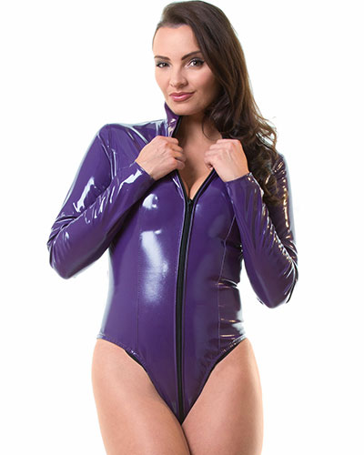 Gloss PVC Purple Severity Body with Thru Zip