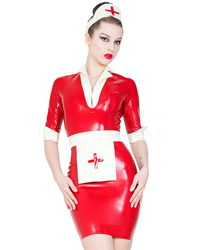 Lucy Nurse's Dress - Glued Latex