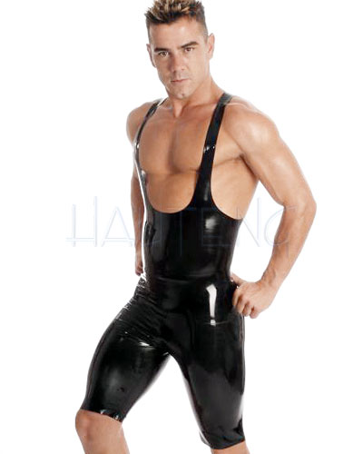 Black Glued Rubber Cycle Shorts