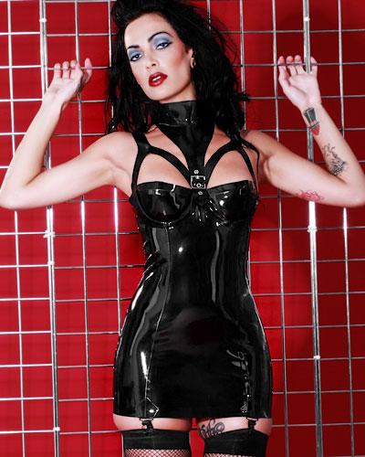 Liberty Strapskleid aus geklebtem Latex