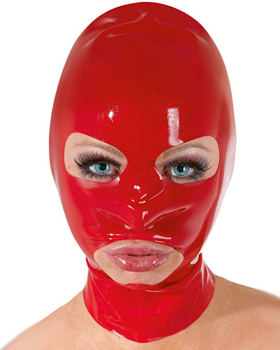 Latex Hood with Large Mouth and Eyes Openings