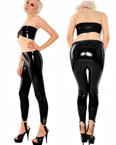 Latex Strapped Pants