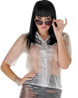Ladies Fitted Short Sleeved Blouse - up to 4XL