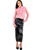 PVC Hobble Skirt - up to 4XL