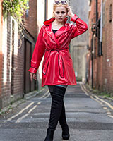 Short PVC Wrap-Over Raincoat - Up to Size 4XL
