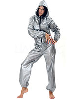 PVC Body Hugging Hooded Overall
